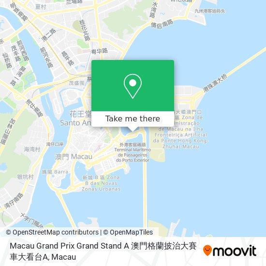 Macau Grand Prix Grand Stand A 澳門格蘭披治大賽車大看台A map