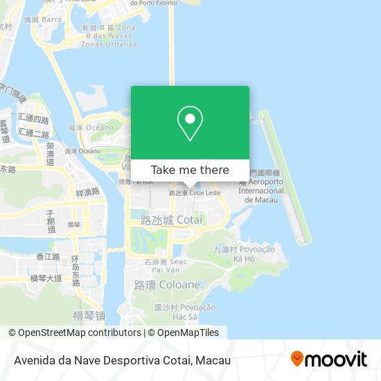Avenida da Nave Desportiva Cotai map