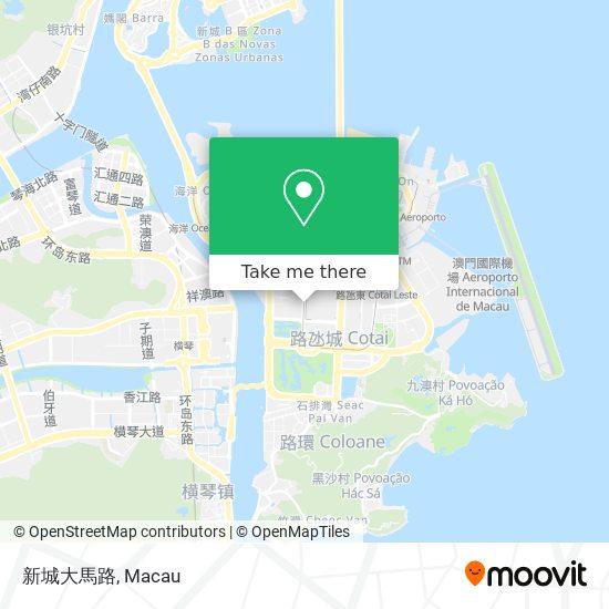 新城大馬路 map