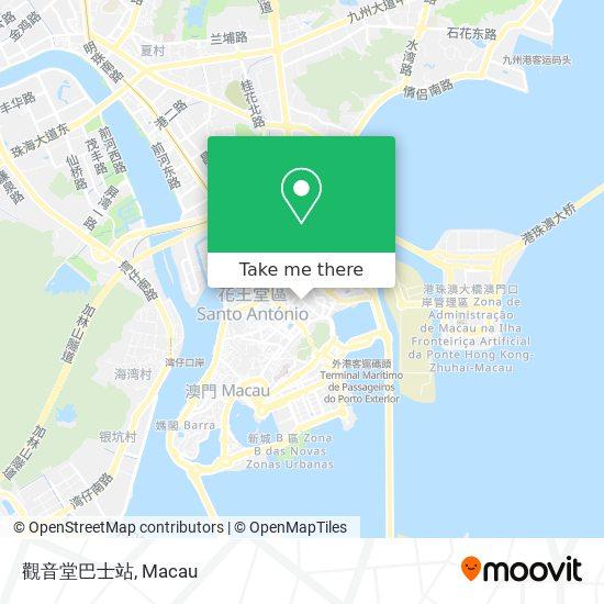 觀音堂巴士站 map