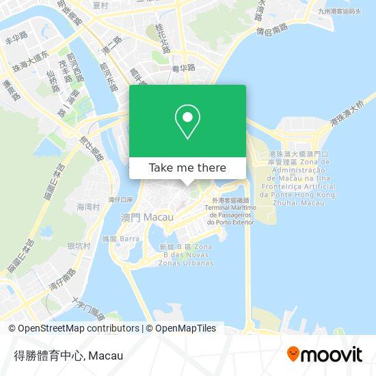 得勝體育中心 map