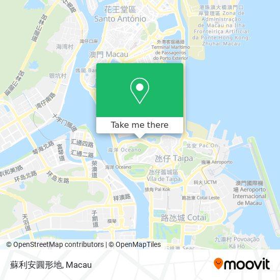 蘇利安圓形地 map