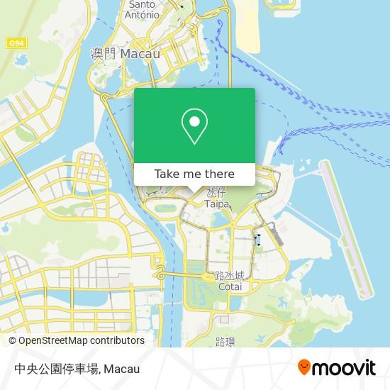 中央公園停車場 map