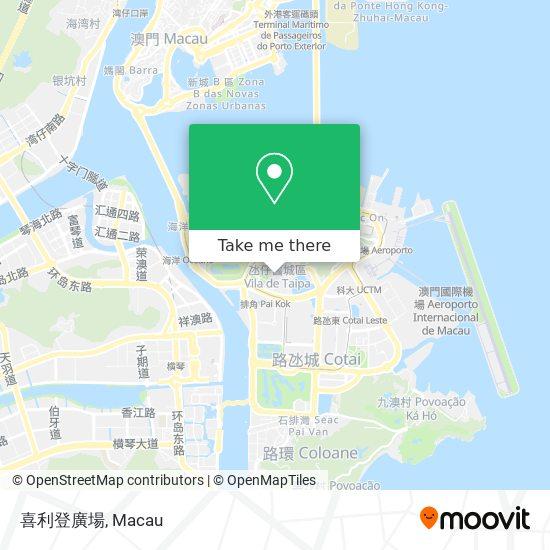 喜利登廣場 map