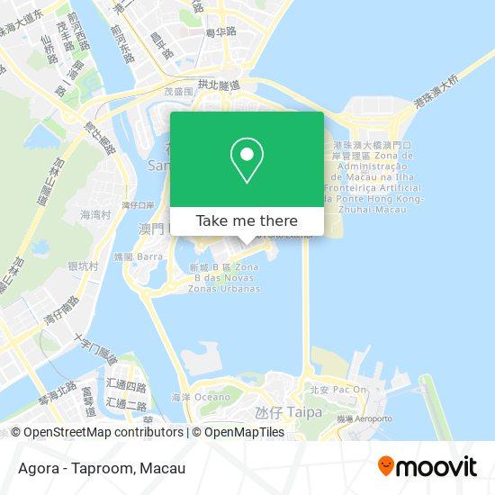 Agora - Taproom map