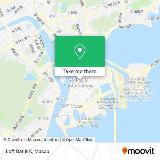 Loft Bar & K map