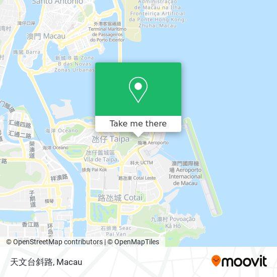 天文台斜路 map