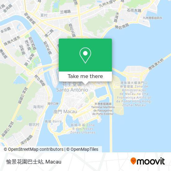 愉景花園巴士站 map