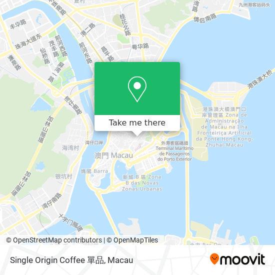 Single Origin Coffee 單品 map