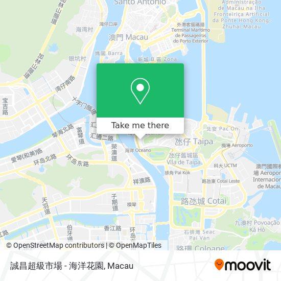誠昌超級市場 - 海洋花園 map
