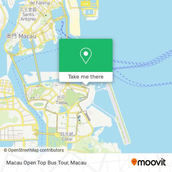 Macau Open Top Bus Tour map