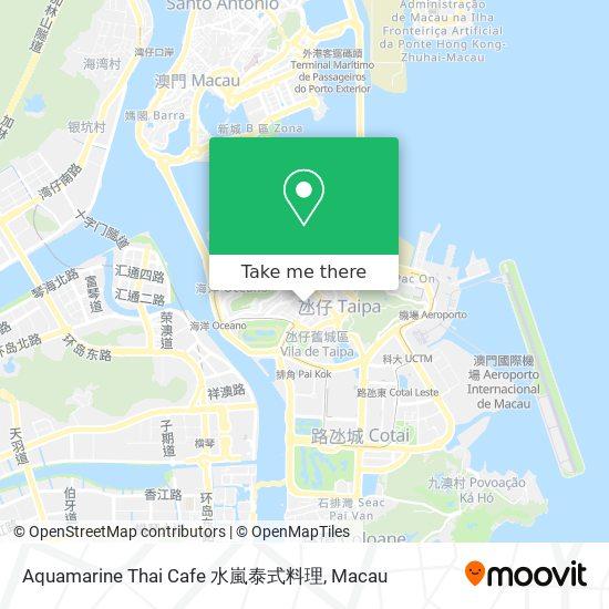 Aquamarine Thai Cafe 水嵐泰式料理 map