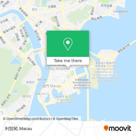 利賢閣 map