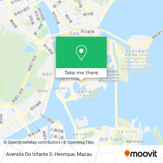 Avenida Do Infante D. Henrique map