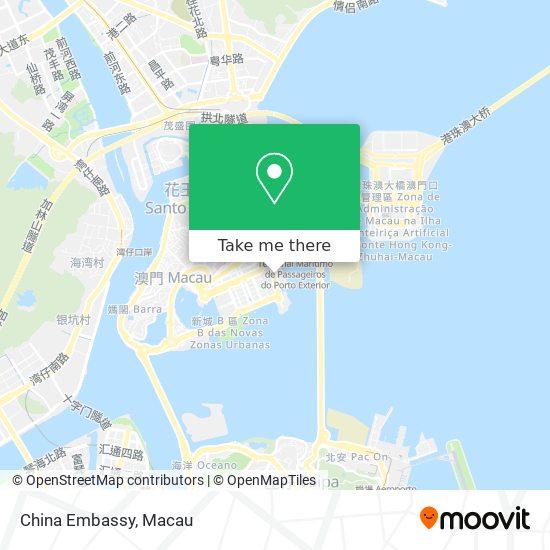 China Embassy map