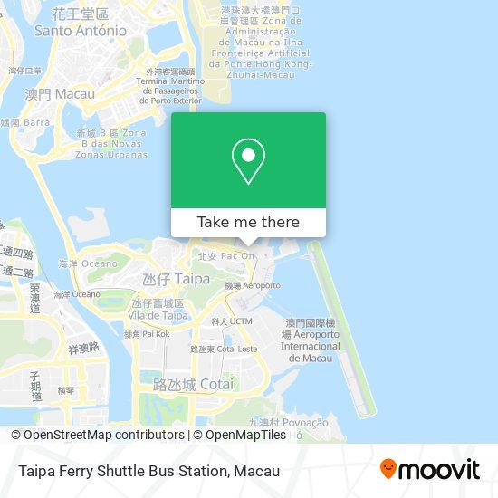 Taipa Ferry Shuttle Bus Station map