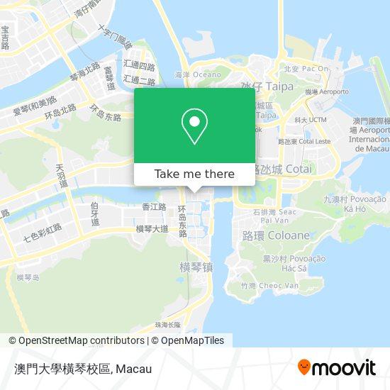 澳門大學橫琴校區 map