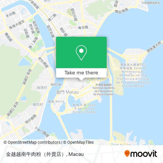 金越越南牛肉粉(外賣店) map