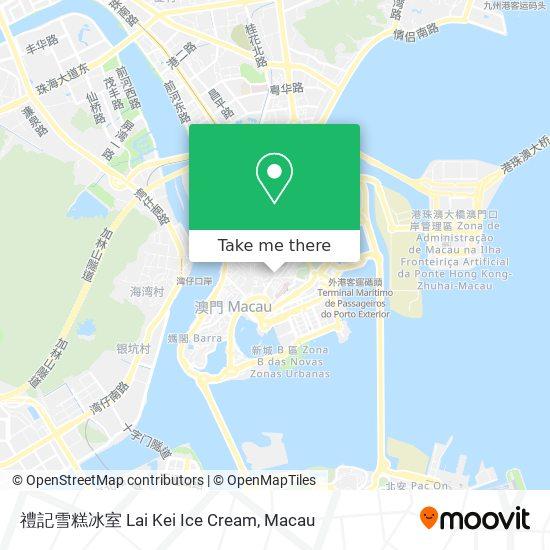 禮記雪糕冰室 Lai Kei Ice Cream map