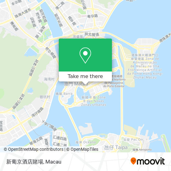 新葡京酒店賭場 map