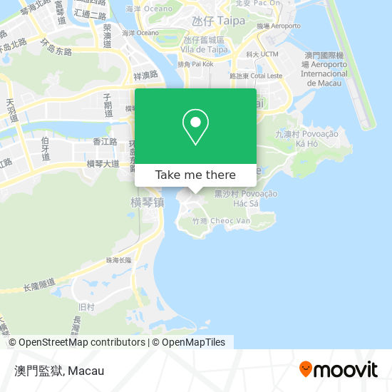 澳門監獄 map
