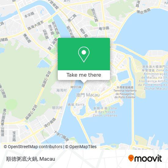 順德粥底火鍋 map