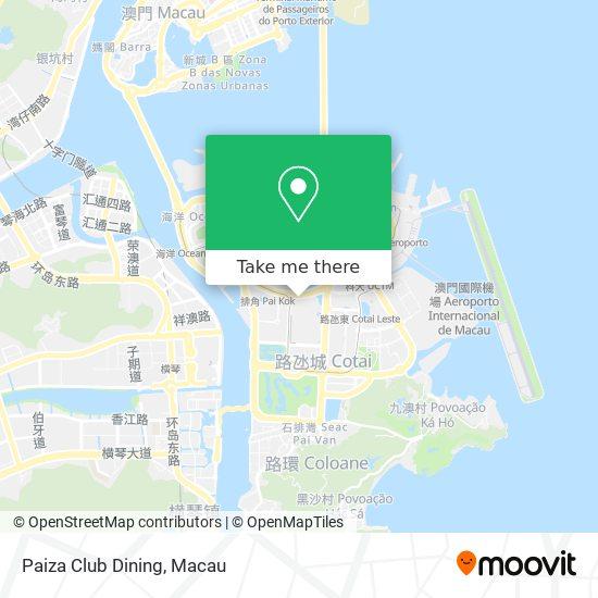 Paiza Club Dining map