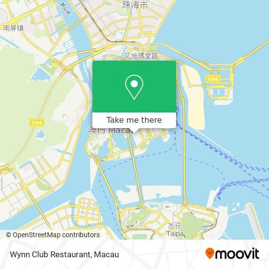 Wynn Club Restaurant map