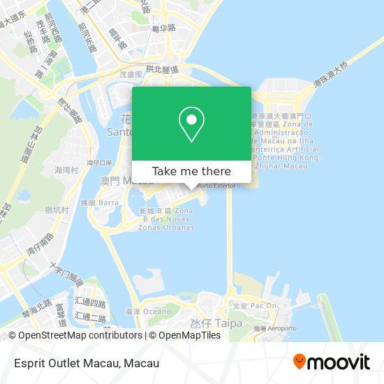 Esprit Outlet Macau map