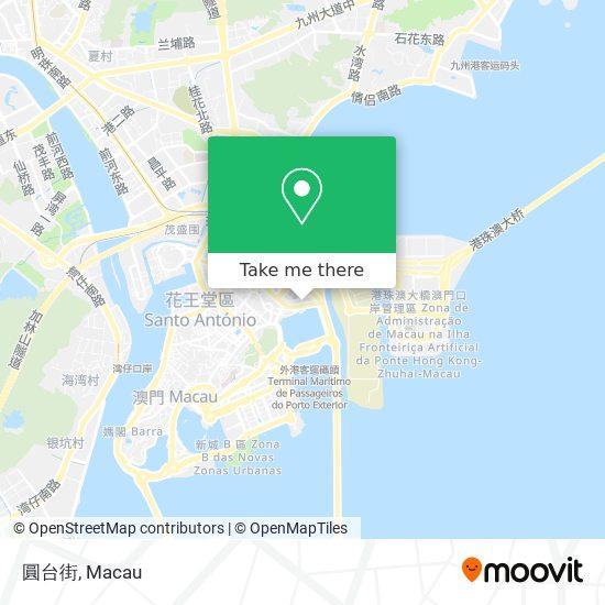 圓台街 map