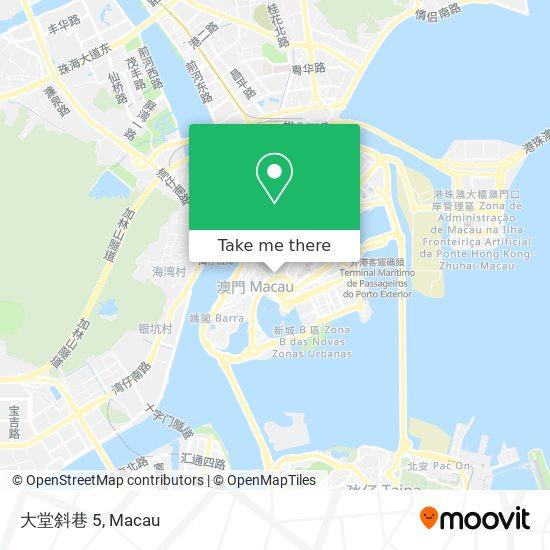 大堂斜巷 5 map