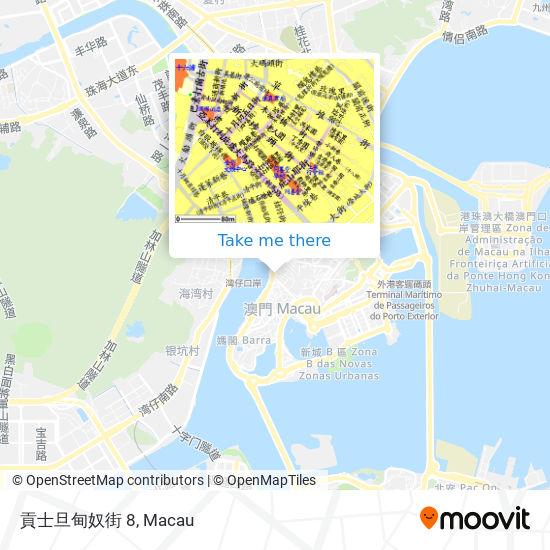 貢士旦甸奴街 8 map