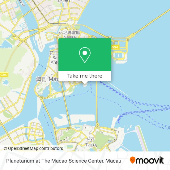 Planetarium at The Macao Science Center map