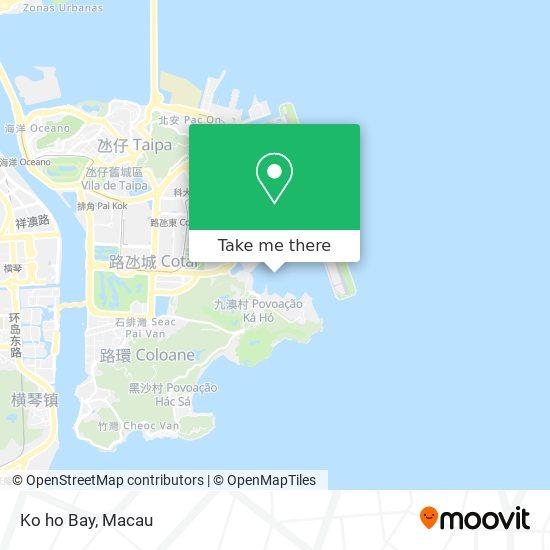 Ko ho Bay map