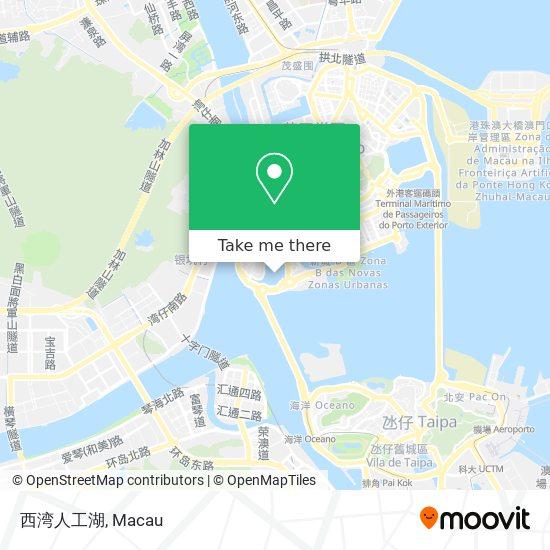 西湾人工湖 map