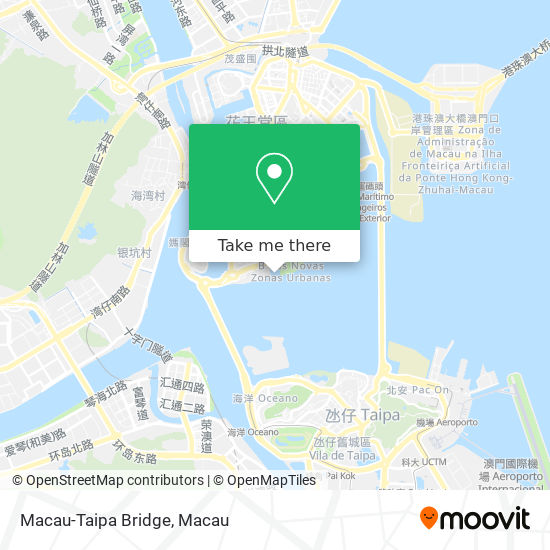 Macau-Taipa Bridge map