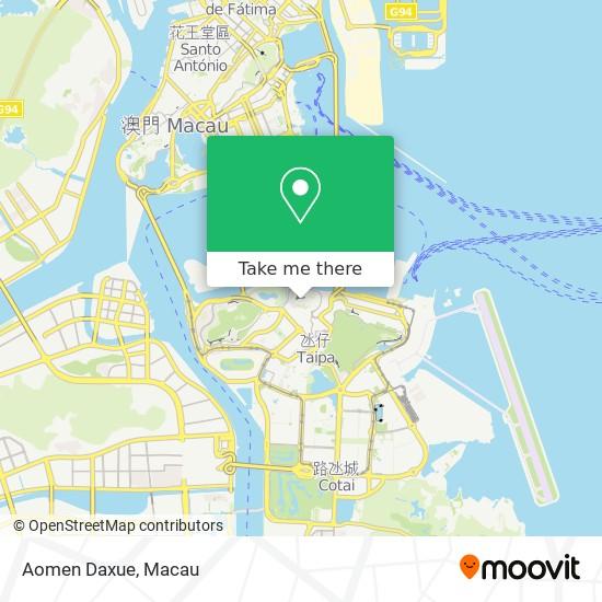 Aomen Daxue map