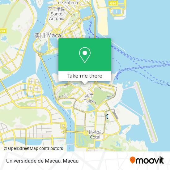 Universidade de Macau map