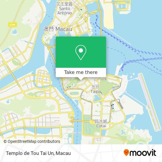 Templo de Tou Tai Un map