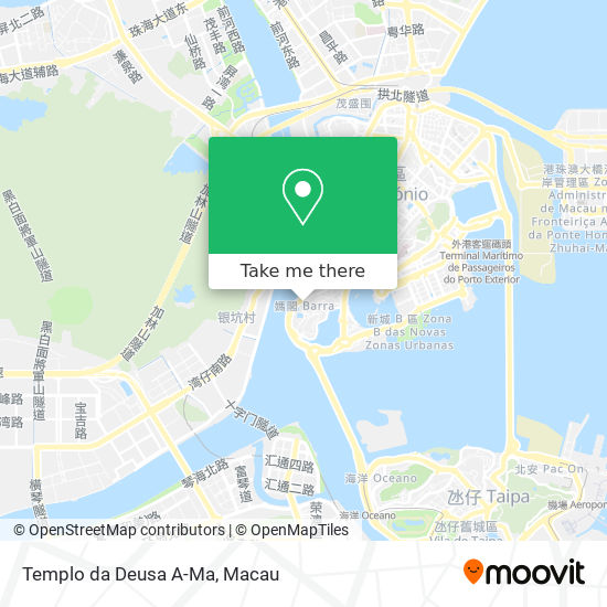 Templo da Deusa A-Ma map