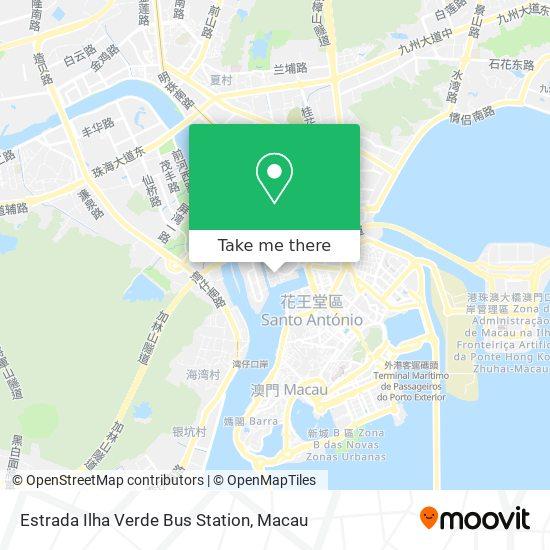 Estrada Ilha Verde Bus Station map