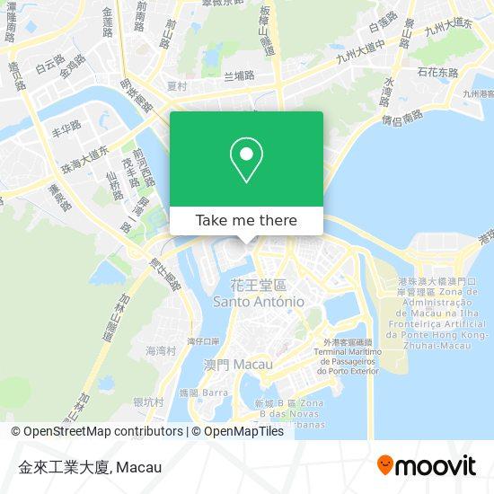 金來工業大廈 map