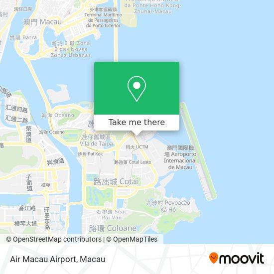 Air Macau Airport map