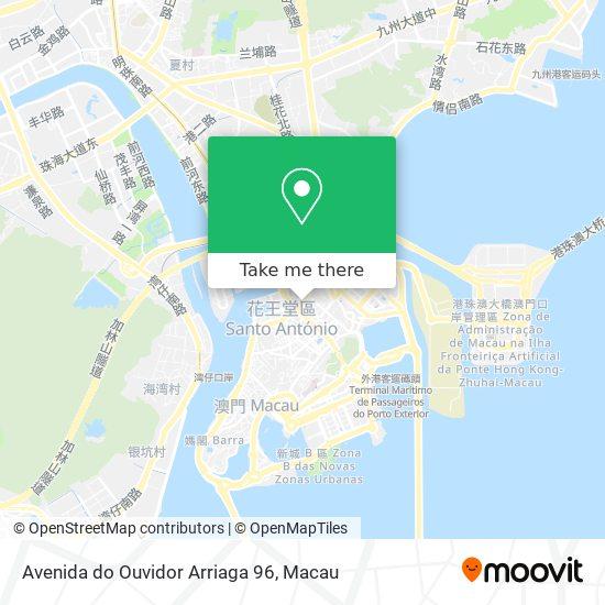 Avenida do Ouvidor Arriaga 96 map