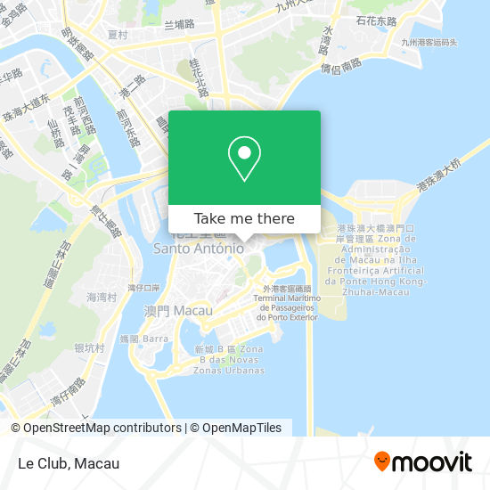 Le Club map