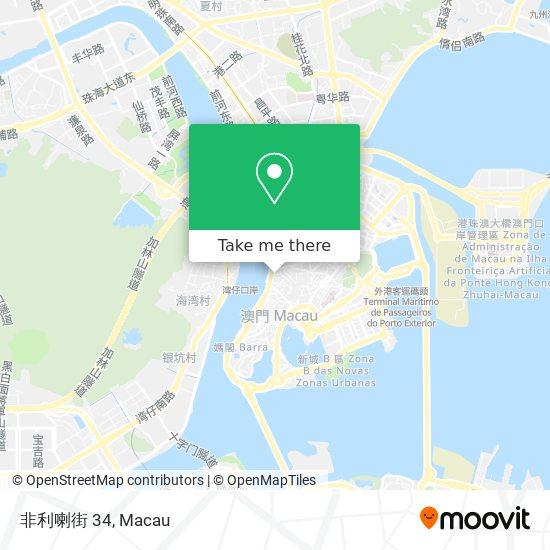非利喇街 34 map