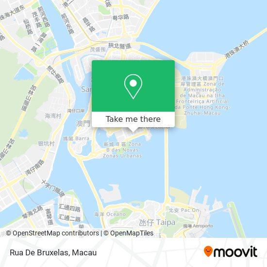 Rua De Bruxelas map