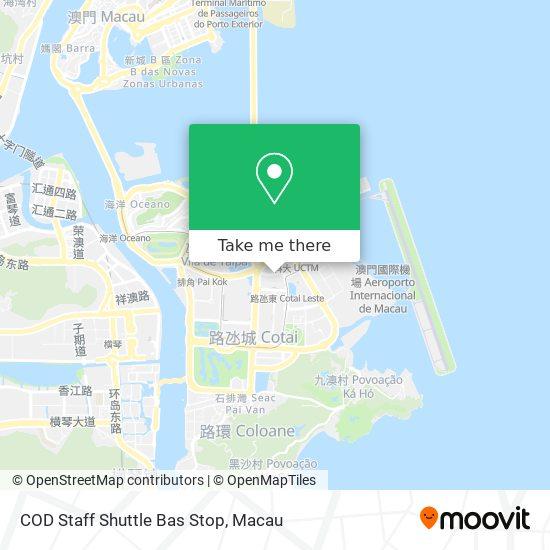 COD Staff Shuttle Bas Stop map