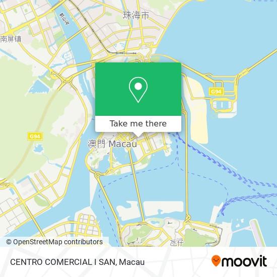 CENTRO COMERCIAL I SAN map