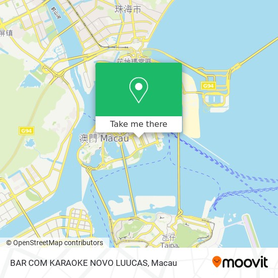 BAR COM KARAOKE NOVO LUUCAS map